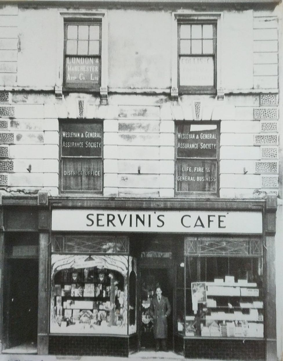 This is what Servini's cafe looked like in 1934, a year after it opened