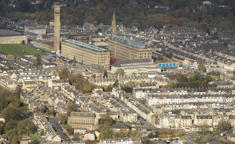 Aerial view of Bradford