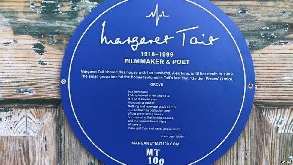 Plaque to Margaret Tait