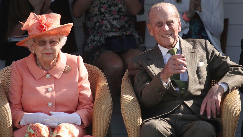 The Queen and Prince Philip at the Guards Polo Club in June 2018