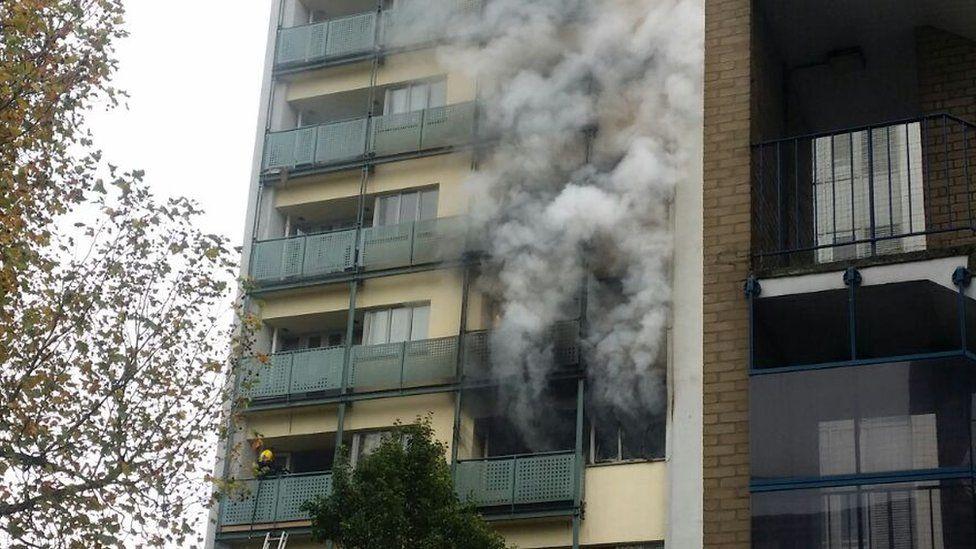Adair Tower fire