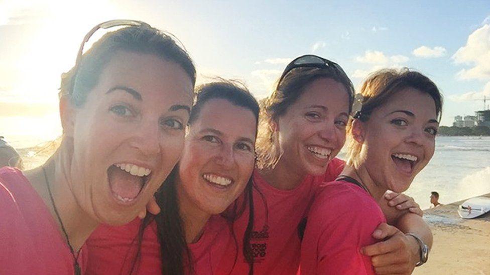Laura Penhaul, Natalia Cohen, Emma Mitchell and Lizanne van Vuuren