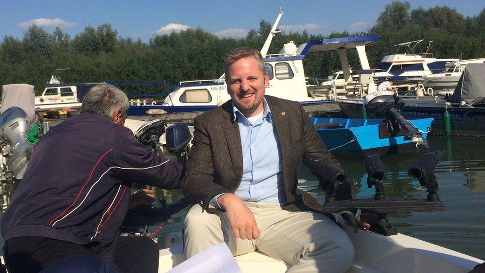 Vit Jedlicka with Liberland behind him