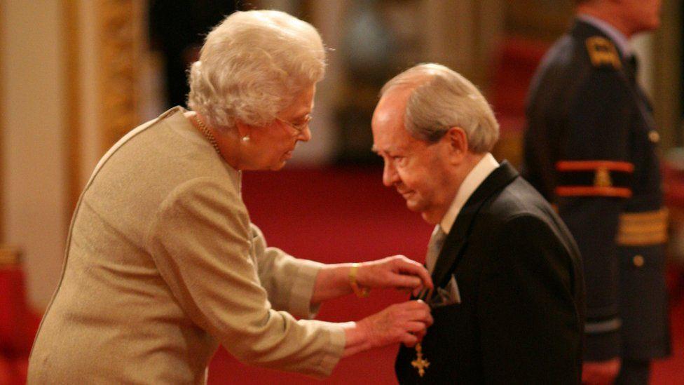 The Queen and Peter Sallis