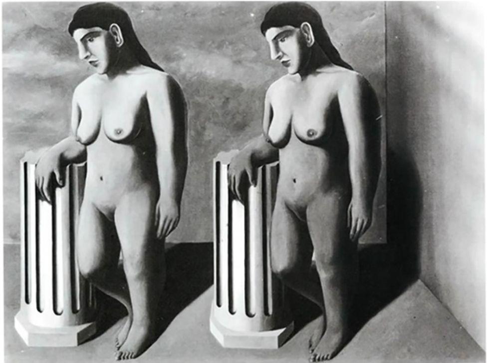 La Pose Enchantée by Rene Magritte