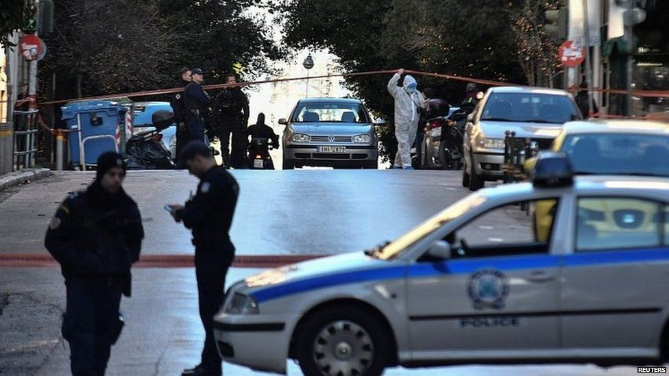 Police officers in Athens, Greece