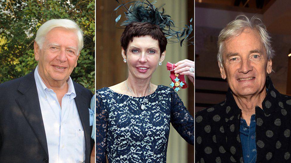 Stephen Rubin, Denise Coates and Sir James Dyson