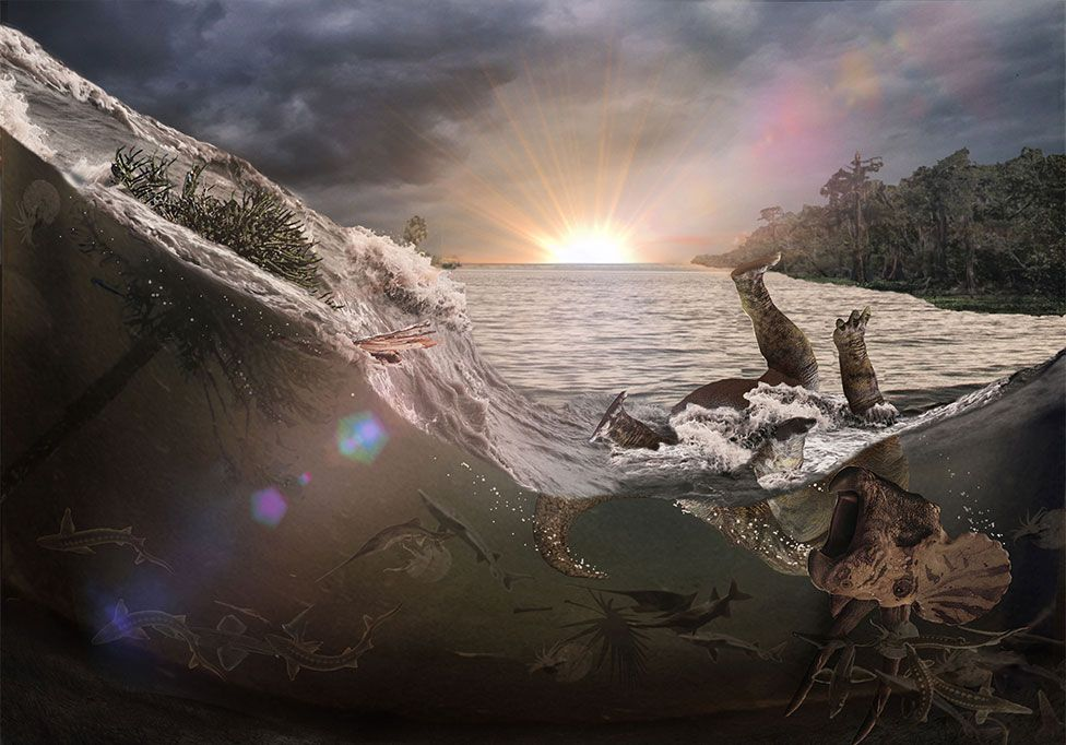 Artwork of water surge