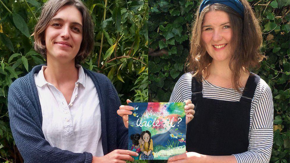 Eva Hibbs and Sarah Harrison with their book