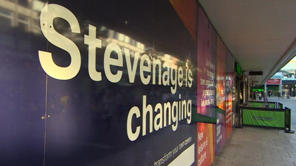 Stevenage is changing sign