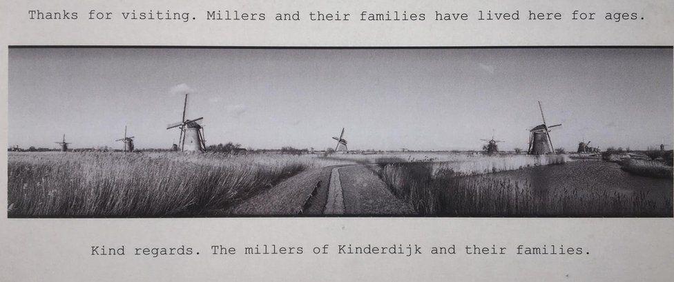 Postcard from local millers in Kinderdijk