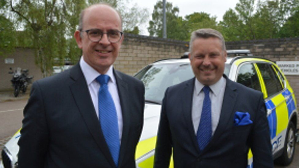 Andy Coles (left) with Police and crime commissioner for Cambridgeshire