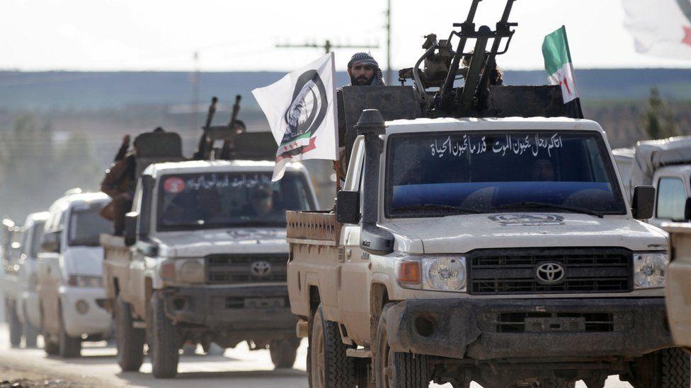 Turkey-backed Syrian rebels in the Manbij area, Dec 28