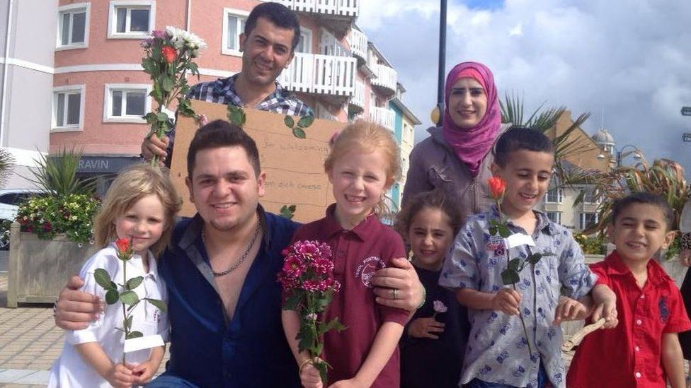 Syrian refugees thank people in Aberystwyth