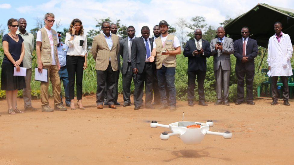 Drone being tested