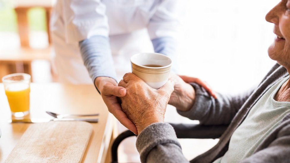 Pensioner given tea by home carer