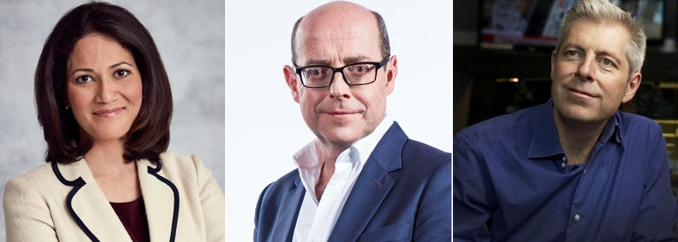 Today presenters (left to right) Mishal Husain, Nick Robinson and Justin Webb