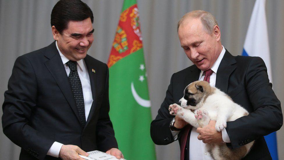 Путин и Бердымухамедов