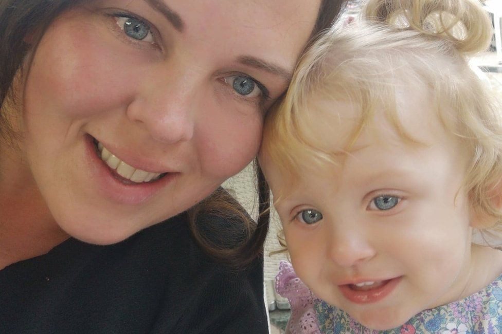 Rebecca Corcoran and her daughter