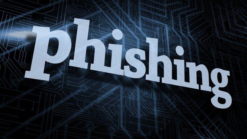 The word Phishing