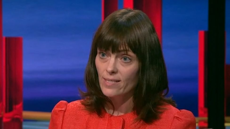 Nichola Mallon appearing on BBC's The View on 04/11/2020