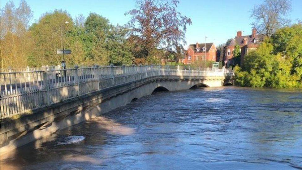 River Teme at Tenbury flooded
