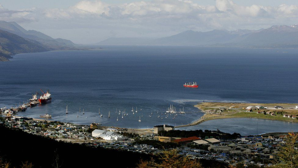 Ushuaia is a port city on Argentina's southern tip