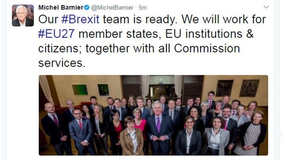 Our Brexit team is ready. We will work for EU27 member states, EU institutions & citizens; together with all Commission services