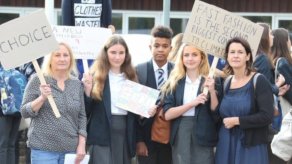 Protesting pupils