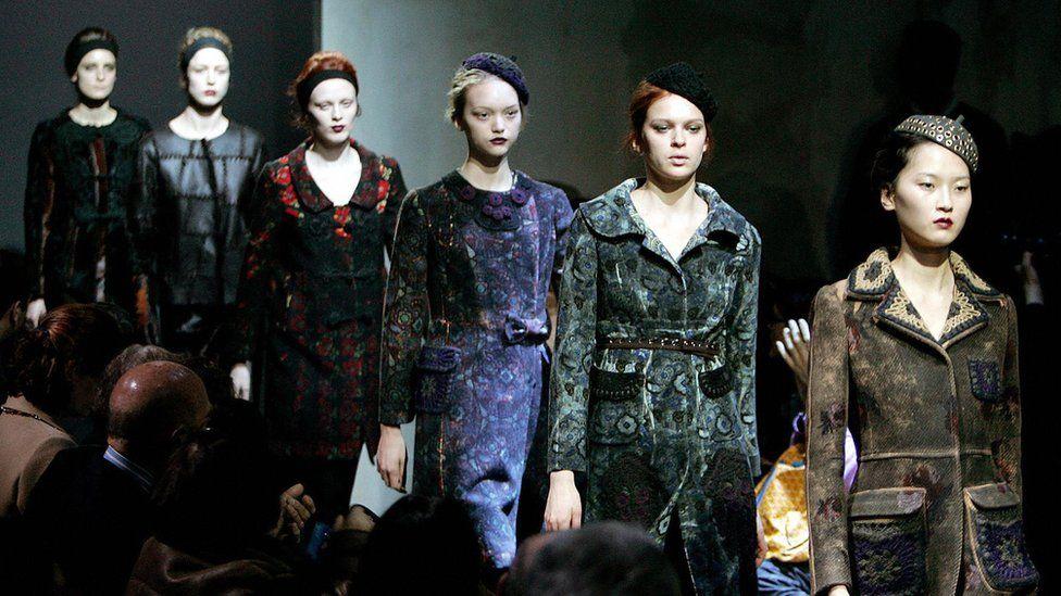 Miuccia Prada catwalk show