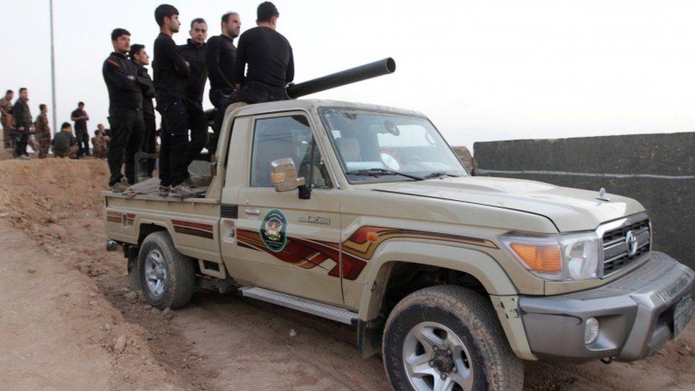 Kurdish Peshmerga fighters, 13 October