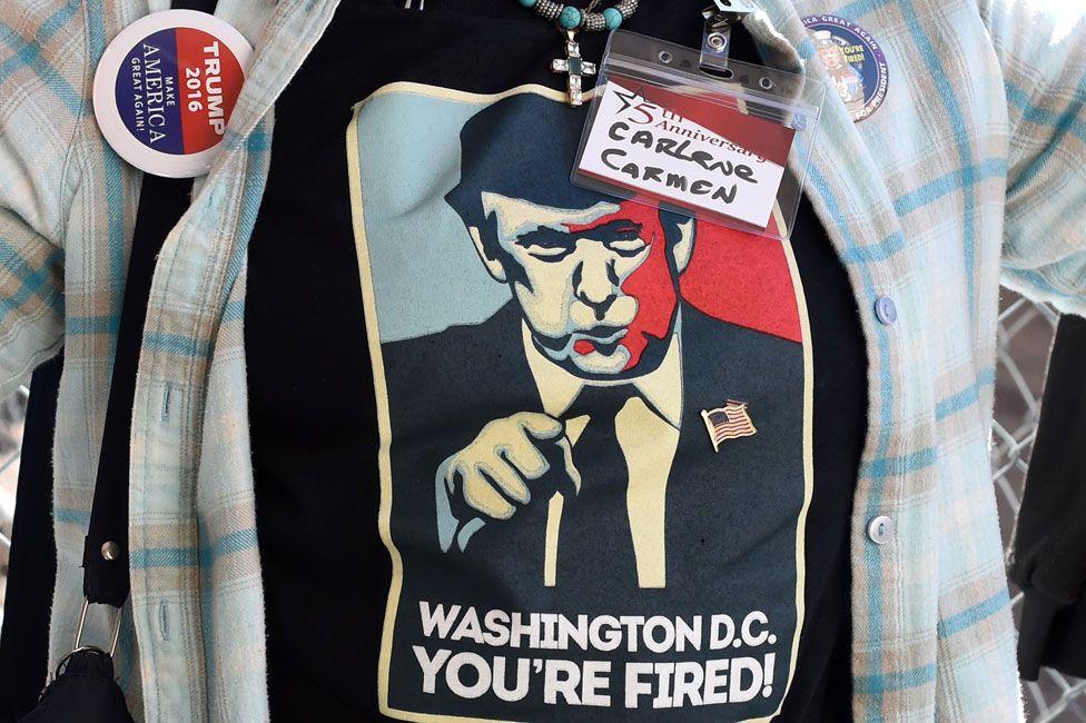 Trump supporter's shirt