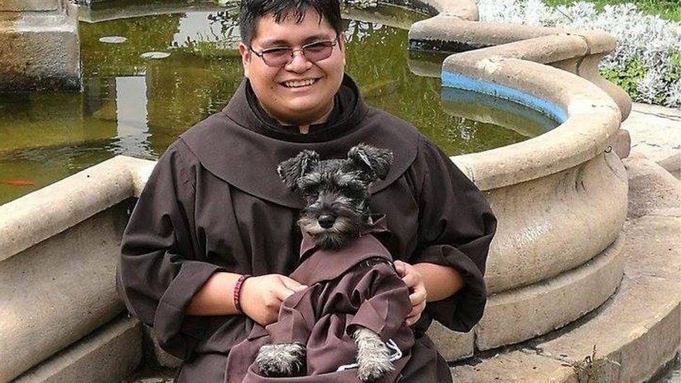 Friar Carmelo, the Bolivian dog
