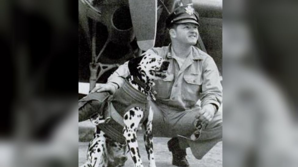 Major Jerry (dog) with his owner Col Lewis S Frederick