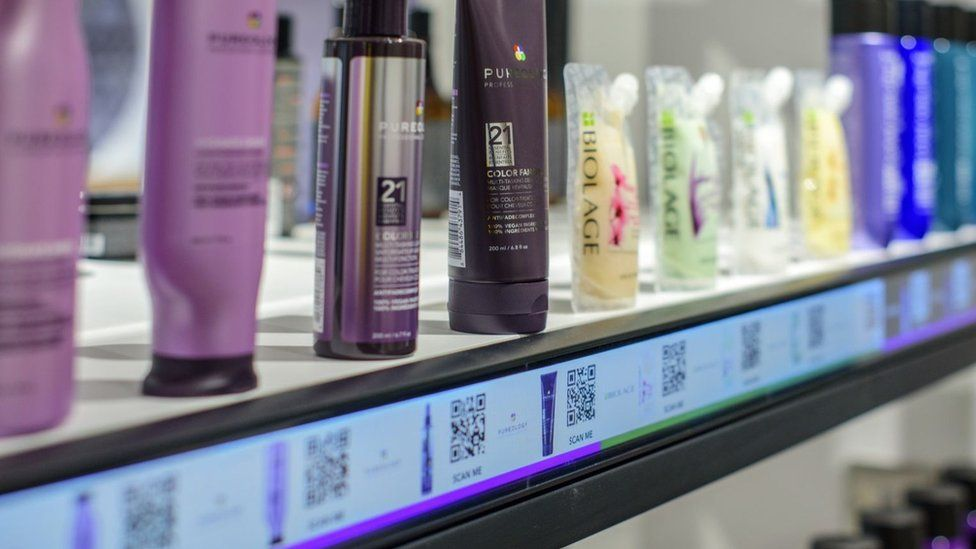 Customers will be able to scan QR codes for products