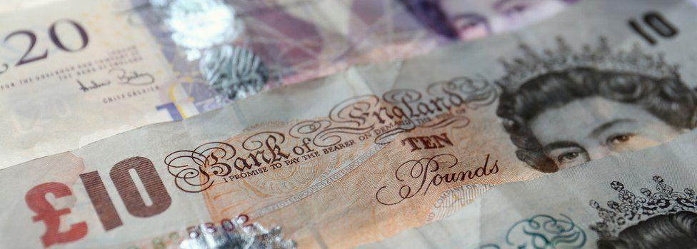 ten pound and twenty pound notes