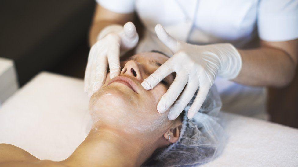 Stock image of facial treatment