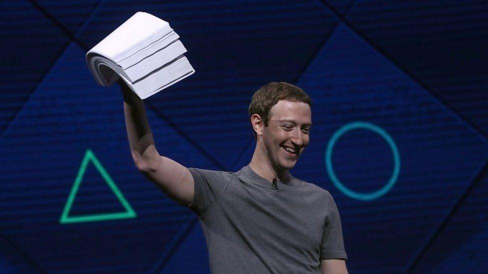Mark Zuckerberg, Facebook CEO, 18 April 2017