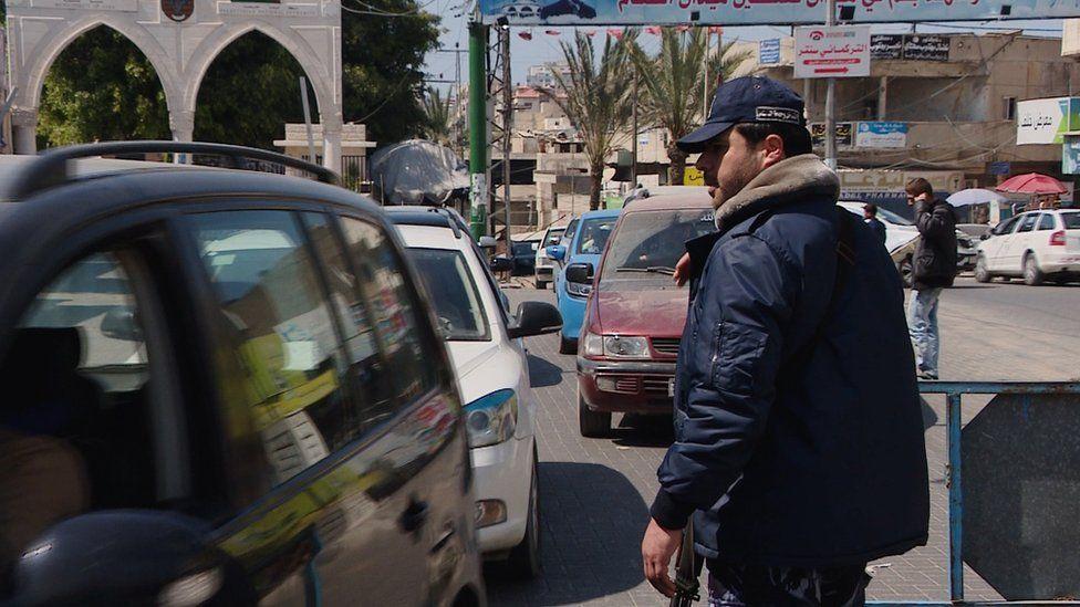 Hamas police officer in the Gaza Strip