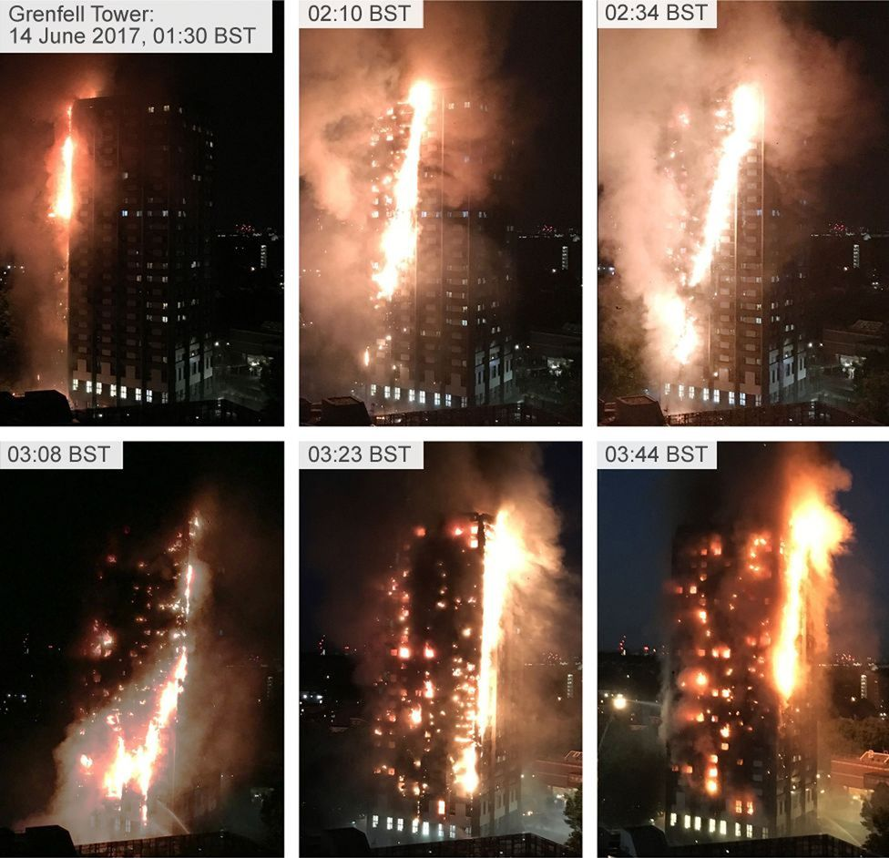 Composite showing progression of fire from 01:30 to 03:44