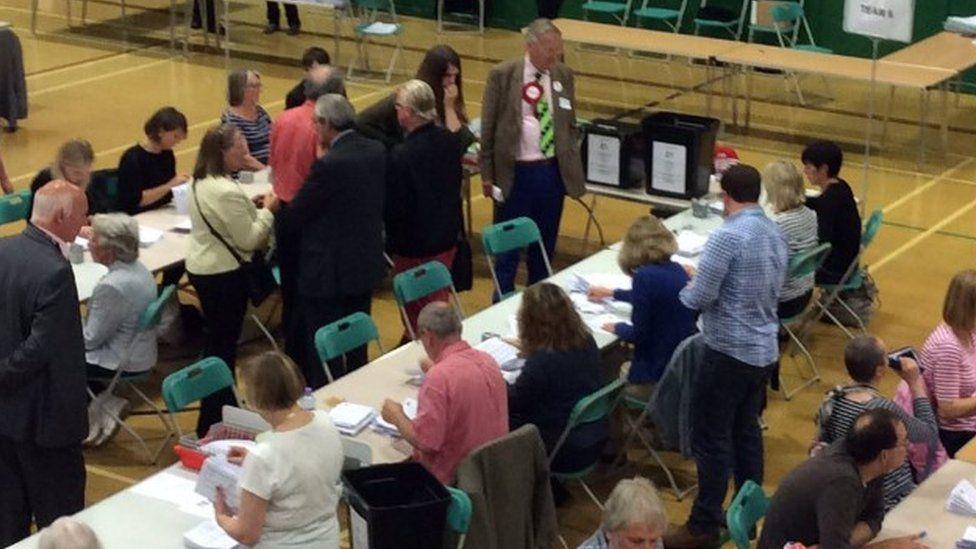 EU referendum count in Christchurch
