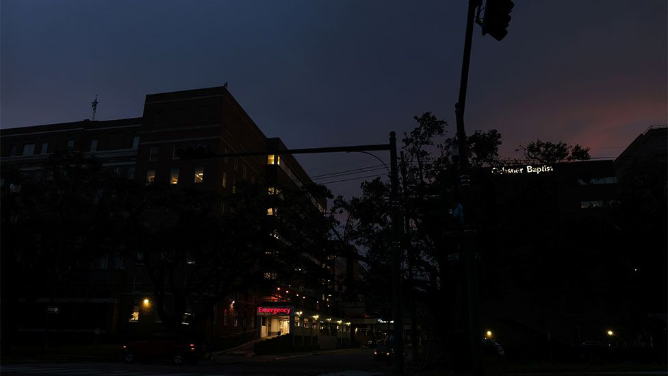 New Orleans during the power outage