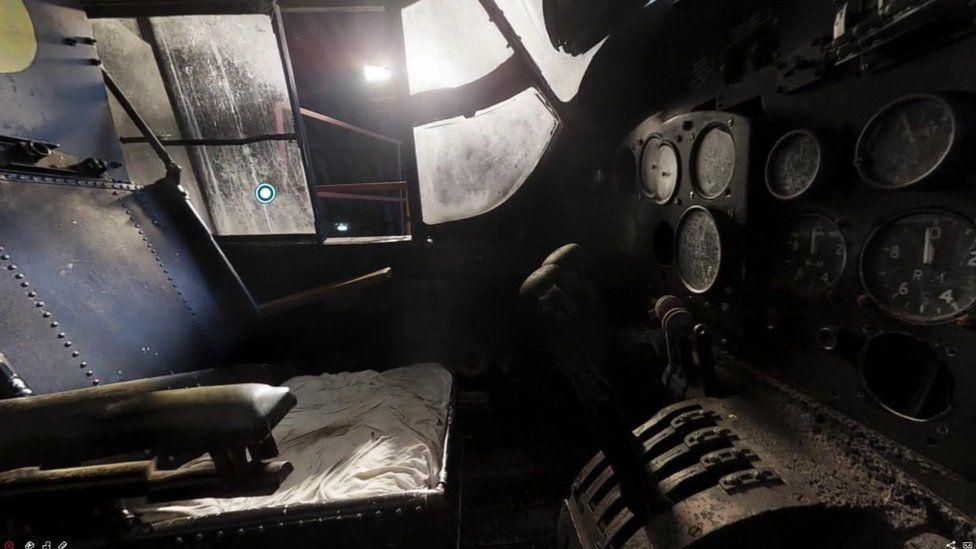 Inside of Lancaster bomber