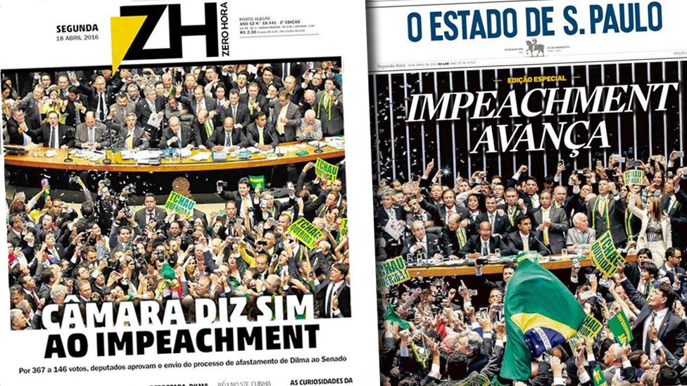 Brazilian newspaper front pages