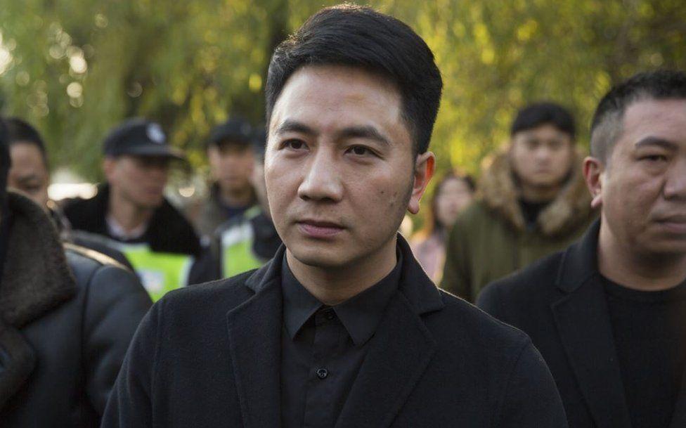 Lin Shengbin, whose wife Zhu Xiaozhen and three children were killed in an arson attack