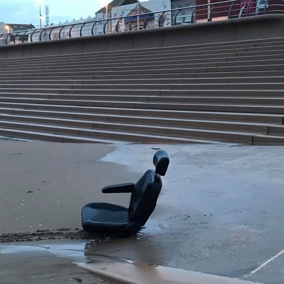 Abandoned mobility scooter