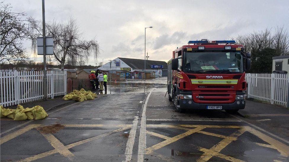 A fire engine in Snaith
