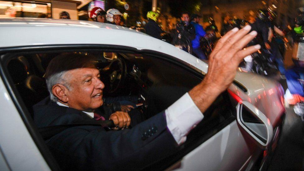 Andres Manuel Lopez Obrador in Mexico City, 1 July 2018