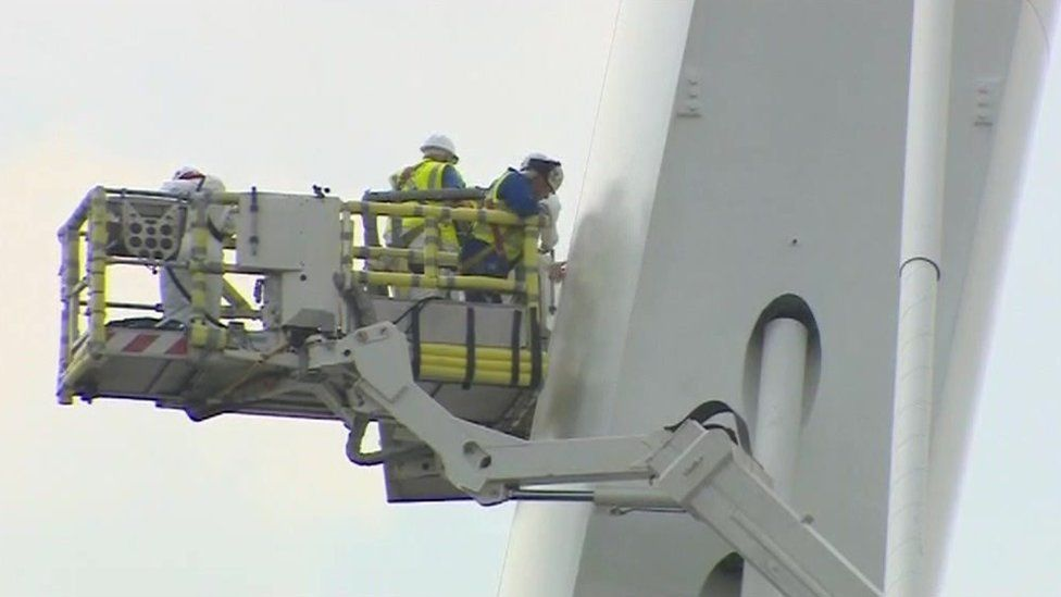 Contractors painting the new Wear crossing