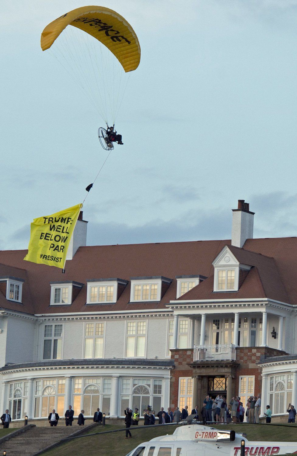 Turnberry paraglider protest